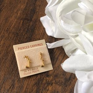 14kt Gold Filled Music Note Earrings